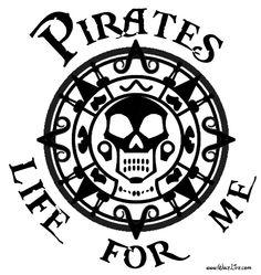 Yo ho, yo ho, a pirate's life for me!!!  Car decal.  #pirates