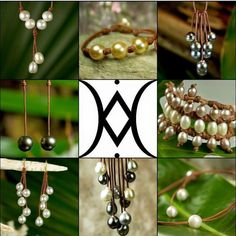 The Pearls and Leather by Designer Wendy Mignot #motherofpearls #wendypearls