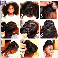 #Whatdoesyourhairstylesayaboutyou Loving this protective hairstyle perfect for all ages! #naturalhair #protectivestyle #9steps #pretty #girly #stylish #bhdc