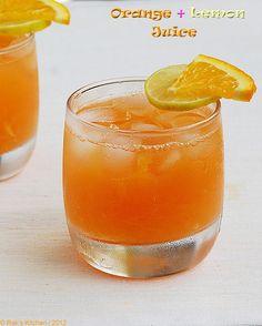 Orange juice with lemon