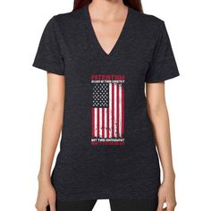 DONT TREAD ON ME V-Neck (on woman)