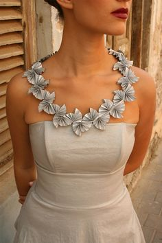 Paper necklace  #jewelry