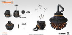ArtStation - The Division 2 - Hive, Lars Sowig Sci Fi Weapons, Armor Concept, Weapon Concept Art, Futuristic Robot, Futuristic Armour, Prop Design, Game Design, Cyberpunk Rpg, Tom Clancy The Division