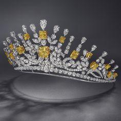 Yellow & White Diamond Tiara by Graff (284 diamonds, 122.63cts). from Graff