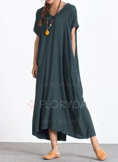 Cheap maxi dress, Buy Quality long maxi dress directly from China cotton dress Suppliers: ZANZEA Women 2017 Summer Casual Loose Long Maxi Dress Sexy V Neck Short Sleeve Back Buttons Split Hem Cotton Dresses Plus Size Comfy Dresses, Casual Dresses For Women, Clothes For Women, Dress Casual, Sexy Maxi Dress, Maxi Dress With Sleeves, Maxi Dresses, Loose Dresses, Maternity Dress