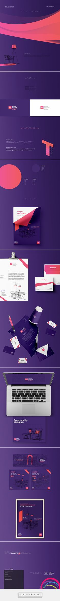 Home Design Show - Visual Identity on Behance - created via https://pinthemall.net