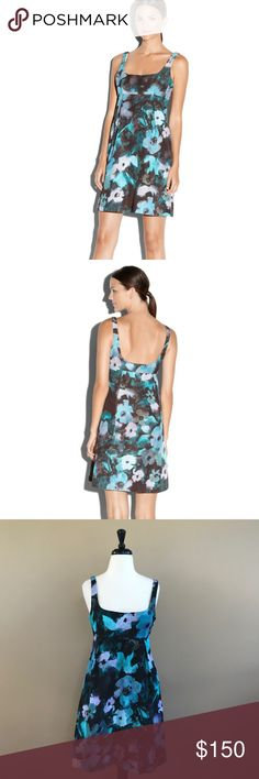 • Milly • Ana Cocktail Dress Blue Floral Print 8 - Milly - Ana  - Cocktail Dress - Floral  - Blue, Purple, BlCk - Size 8 - New with Tags Milly Dresses Mini