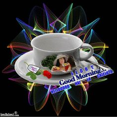 Fotografie animată Good Morning Coffee Images, Good Morning Beautiful Gif, Good Morning World, Gifs, Morning Pictures, Morning Pics, Happy Friendship Day, Coffee Love, Pet Birds