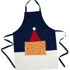 A Christmas Apron, Seasonal and Practical. Make Your Own, Make It Yourself, How To Make, Christmas Aprons, Patchwork Patterns, Seasons, Projects, Quilting Patterns, Blue Prints