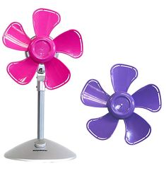 Sky-Blue /& Pink Baluue 2Pcs Mini USB Rechargeable 360 Degree Flexible Fan with LED Light and Clip