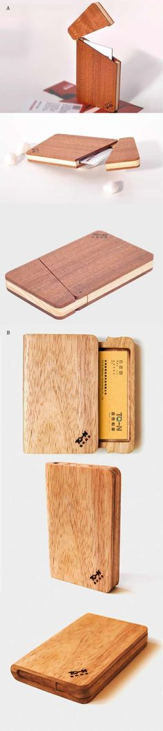 stamp on both sides of the case and blank cards inside (woodworking design ideas) Wood Business Cards, Business Card Case, Business Card Holders, Woodworking Joints, Woodworking Plans, Woodworking Projects, Small Wood Projects, Diy Projects, Wood Crafts