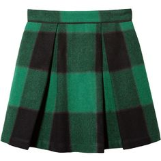 Sea 2 Pleat Mini Skirt (7.469.490 VND) ❤ liked on Polyvore featuring skirts, mini skirts, bottoms, saias, green, long green skirt, green plaid mini skirt, plaid pleated skirt, green pleated skirt and pleated skirts