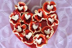 Cherry Tarts; make these along with your child for your partner on Valentines Day - 2 Ingredients, easy, fun