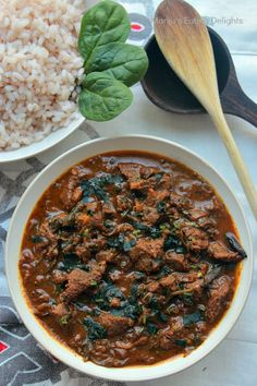 Kerala style Beef curry with Spinach
