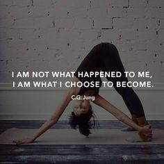 find your inner #yogi .... act in line with who you want to become not what you have found yourself to be