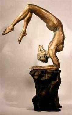 Gwen   Scorpion Pose 3   Bob Clyatt Sculpture