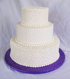 This is just a simple buttercream wedding cake, my first in a business relationship with an Inn/Restaurant....I have many others this year o...