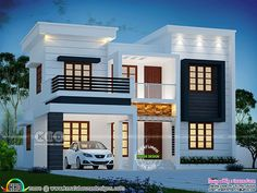 1770 square feet 4 bedroom modern house architecture by Dream Form from Kerala.