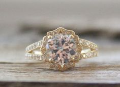 2.40 Cts. White Sapphire Split Shank Diamond Engagement Ring in 14K Yellow Gold
