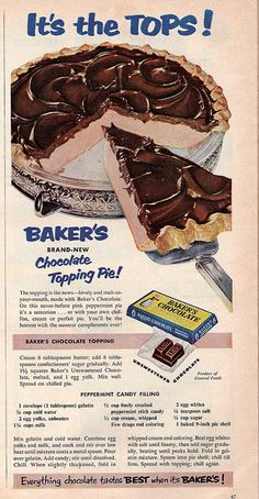Baker's Chocolate Vintage Ad