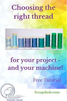 Every project needs its own type of thread. How do you choose which one to use? This quilt tutorial will help you make your decision. Black And White Quilts, Two Color Quilts, Quilting Blogs, Sewing Hacks, Sewing Tips, Sewing Projects, Thread Painting, Quilting For Beginners, Patch Quilt