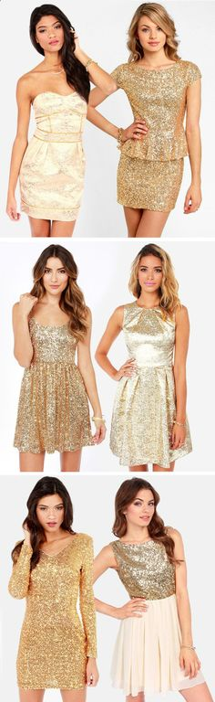 Gold Sequin Dresses