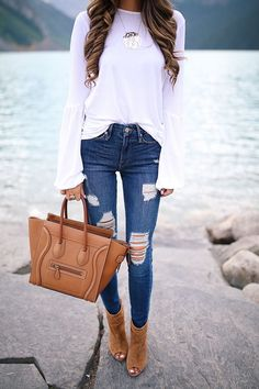 Fashion designs - Very Cute Fall Outfit. This Would Look Good Paired With Any Shoes. Cute Fall Outfits, Fall Winter Outfits, Autumn Winter Fashion, Spring Outfits, Casual Outfits, Fashion Mode, Look Fashion, Fashion Outfits, Womens Fashion