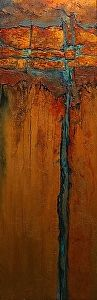 Carol Nelson Fine Art - Copper Illusion 2, 11086 mixed media on Panel