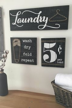 Laundry room decor signs laundry room signs set of 3 laundry room decor laundry room d .