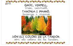 Dita tardor Spanish Teacher, Album, School, Colors, Autumn, Carnival, Classroom Setup, Phonological Awareness, Schools