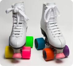 Relive your childhood memories of skating with these retro color block roller skates. These limited colorblock styled skates feature a high top vinyl, colorblock wheels, and come in sizes 5-10. So throw on your helmet, get those knee pads on and head outside!