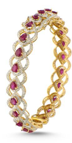 Bridal Diamond Bangle and Bracelet Collection from ORRA Diamond Bracelets, Diamond Jewelry, Bangle Bracelets, Gold Jewelry, Jewellery, Ruby Bangles, Gold Bangles, Silver Diamonds, Modern Jewelry