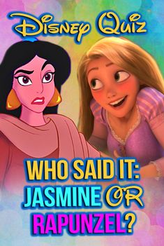 Disney Quiz: Do you love everything Disney? Take this fun who said it Disney quiz and see if you can figure out what lines Jasmine and Rapunzel said! Are you an AUTHENTIC Disney fan? Test yourself! Oh My Disney Quizzes, Disney Test, Quizzes For Kids, Disney Movie Posters, Disney Pop, Disney Songs, Fun Quizzes, Disney Trivia, Disney Song Quiz