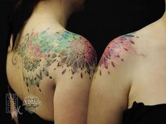 watercolour tattoo mandala - Google Search