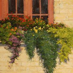 Window Box by Laurel Daniel Oil ~ 18 x 18
