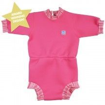 Splash About Happy Nappy Diaper Wetsuit Pink Candy X Large 12-24 Months