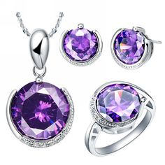 Find More Jewelry Sets Information about Trendy CZ Fashion Sterling Silver CZ Diamond Jewelry Sets Pendant Earrings and Ring with Stones Round Jewelry Fashion Ulove T062,High Quality jewelry punch,China jewelry tumbler Suppliers, Cheap jewelry japan from D&C Fashion Jewelry Buy to Get a Free Gift on Aliexpress.com