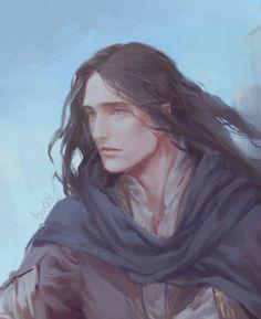 ourlaranikaisakova:    Maglor on Beleriand`s ruins by Egorit