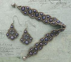 Linda's Crafty Inspirations: Bracelet of the Day: Canterbury - Alexandrite Moon Dust