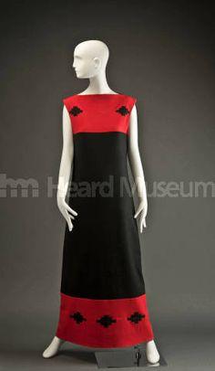 Dress by Margaret Wood (Navajo/Seminole), c. 1981, Heard Museum, Phoenix, Arizona (NA-SW-NA-C-82)