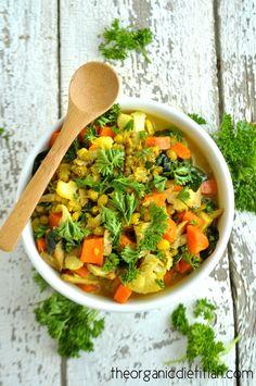 Mung Bean Stew with Turmeric Broth  #vegan #vegetarian #glutenfree