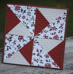 Paperville - quilted cards using a square punch, simple and ingenious
