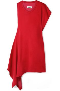 MM6 Maison Margiela | Asymmetric jersey mini dress | NET-A-PORTER.COM