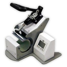 The Digital Mug Press is Geo Knight Co's latest addition to the Digital Knight line of presses. This press is a full wrap-around, handle to handle, top-to-bottom printing mug press. It can press images up to high, and as close as from the hand Transfer Paper, Heat Transfer, Best Heat Press Machine, Mug Press, Sublimation Blanks, Swing Design, Digital Timer, Mug Printing, Transfer Printing