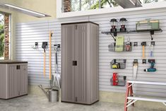 """Suncast Base Storage Cabinet - Resin Construction for Garage Storage - 72"""" Garage Organizer with Shelving and Holds up to 75lbs. - Platinum Doors andamp; Slate Top >>> You can find out more details at the link of the image.-It is an affiliate link to Amazon."""