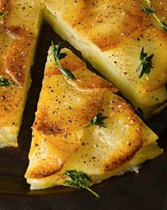 Recipe for Crisp Potato Cake - A classic French preparation to impress your holiday guests or French theme dinner! Galette de Pomme de Terre[amd-zlrecipe-recipe:192]
