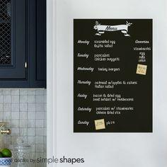 Meal Planner Chalkboard Decal Menu Wall Decal Refrigerator