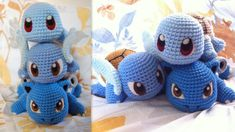 Group shot of the Squirtle Line Individual views: Squirtle pictures and pattern:fav.me/d73nk10 Wartortle:fav.me/d7p3a1i Blastoise:fav.me/d8jpbjt Instagram:instagram.com/evwi...