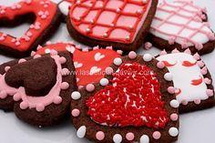 Galletas de Chocolate para San Valentin