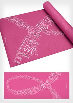 This fitspirational yoga mat offers love, strength, hope, and courage to the yogis that use it. Plus, $1 from the sale of each mat goes to the Breast Cancer Research Foundation. Check out more awesome products that support breast cancer awareness efforts, here: http://www.womenshealthmag.com/life/breast-cancer-awareness-merchandise-2013